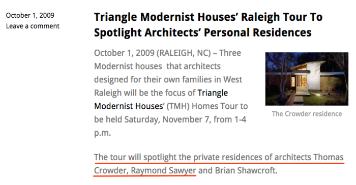 Triangle Modernest House TOUR Crowder Barnum connection.png